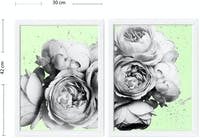 Codeco Poster set White Peonies on Mint