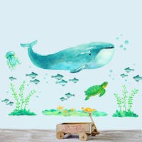 Codeco Wall sticker water color Ocean
