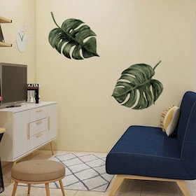 Codeco Wall sticker water color Monstera leaves