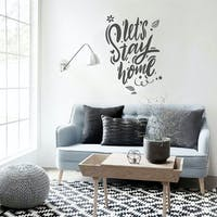 Codeco Wall sticker Wording Lets Stay Home