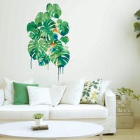 Codeco Wall sticker Water Color Monstera Bouquet