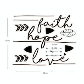 Codeco Wall Sticker  Motivational wording Faith Hope Love