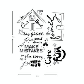 Codeco Wall Sticker Wording In Our Home