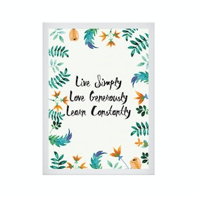 CADREHOME Live Simply Love Generously Learn Constantty (5R)