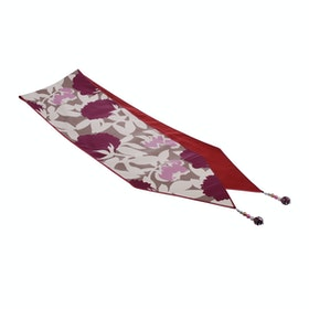 Chic For Home Floral Kream Merah muda Runner 150x30cm