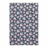 Chic For Home Floral navy Canvas Rugs