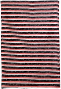 Chic For Home Stripes Pink Canvas Rugs