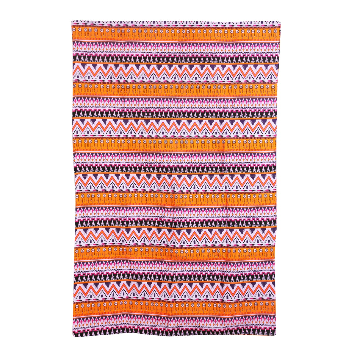 Chic For Home Ethnic Purple Orange Canvas Rugs