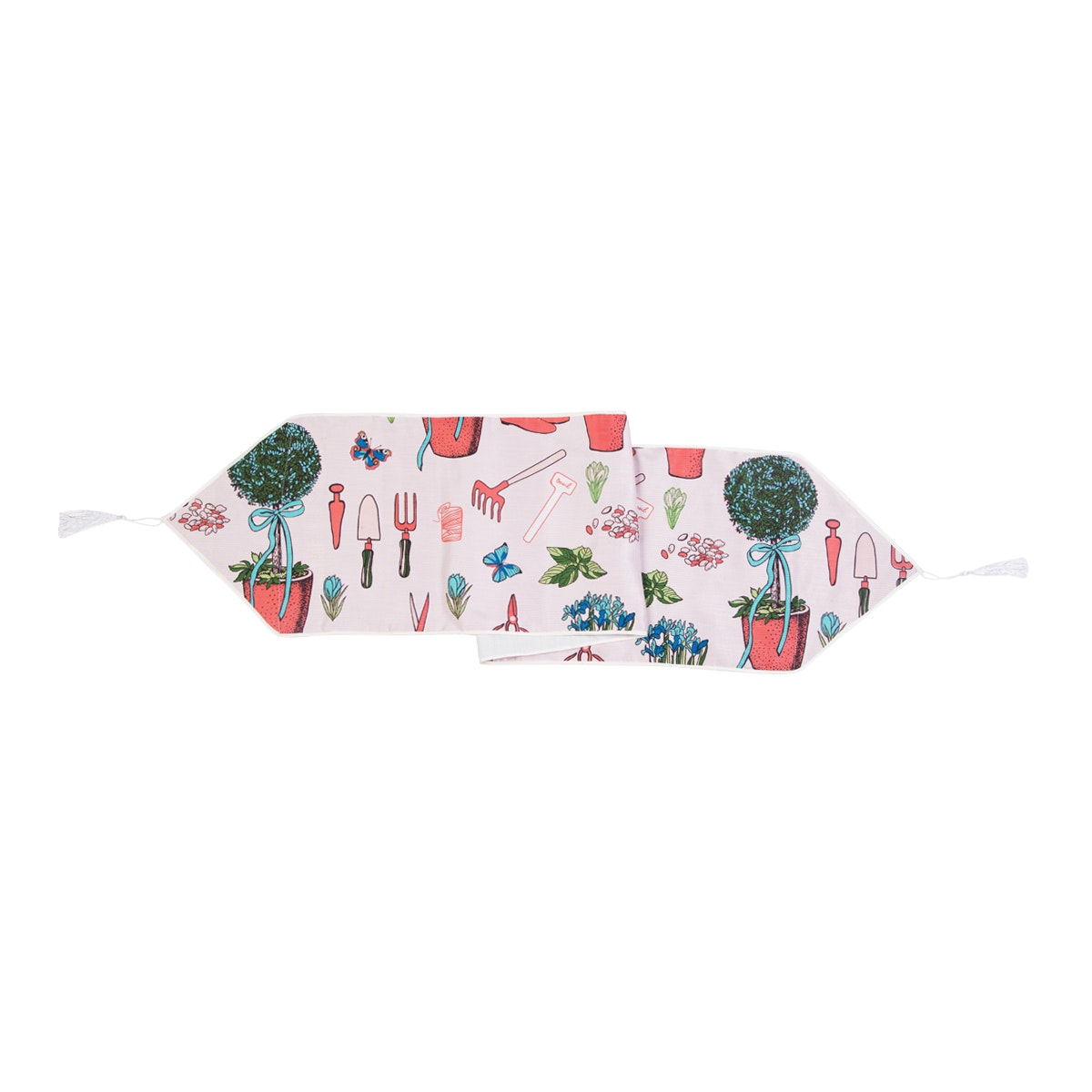 Chic For Home Plant Pink Table Runner