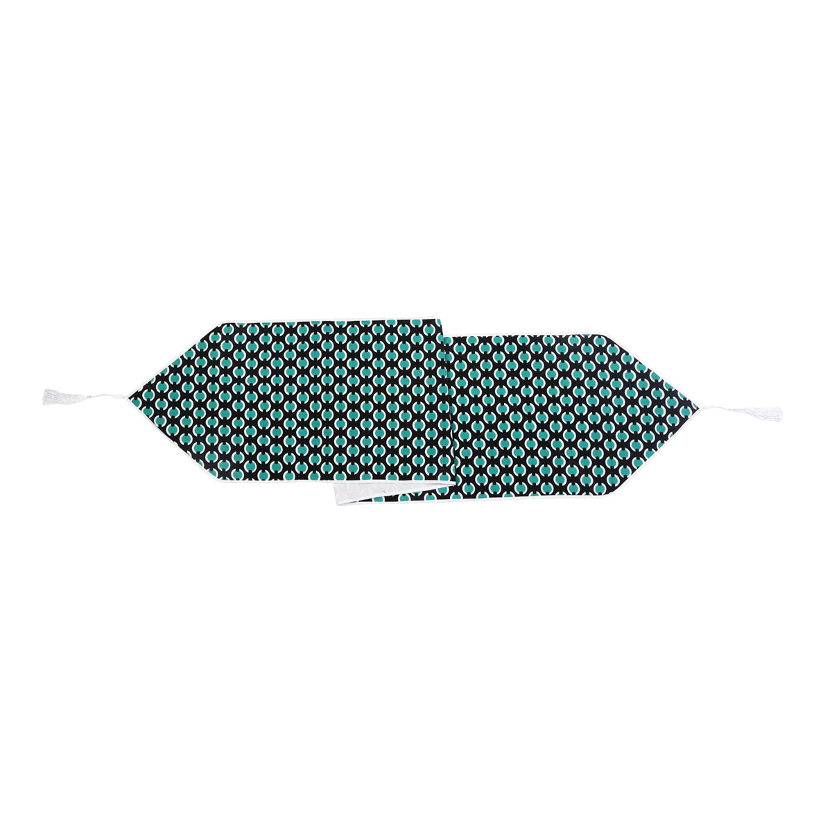Chic For Home Geometric Tosca Table Runner