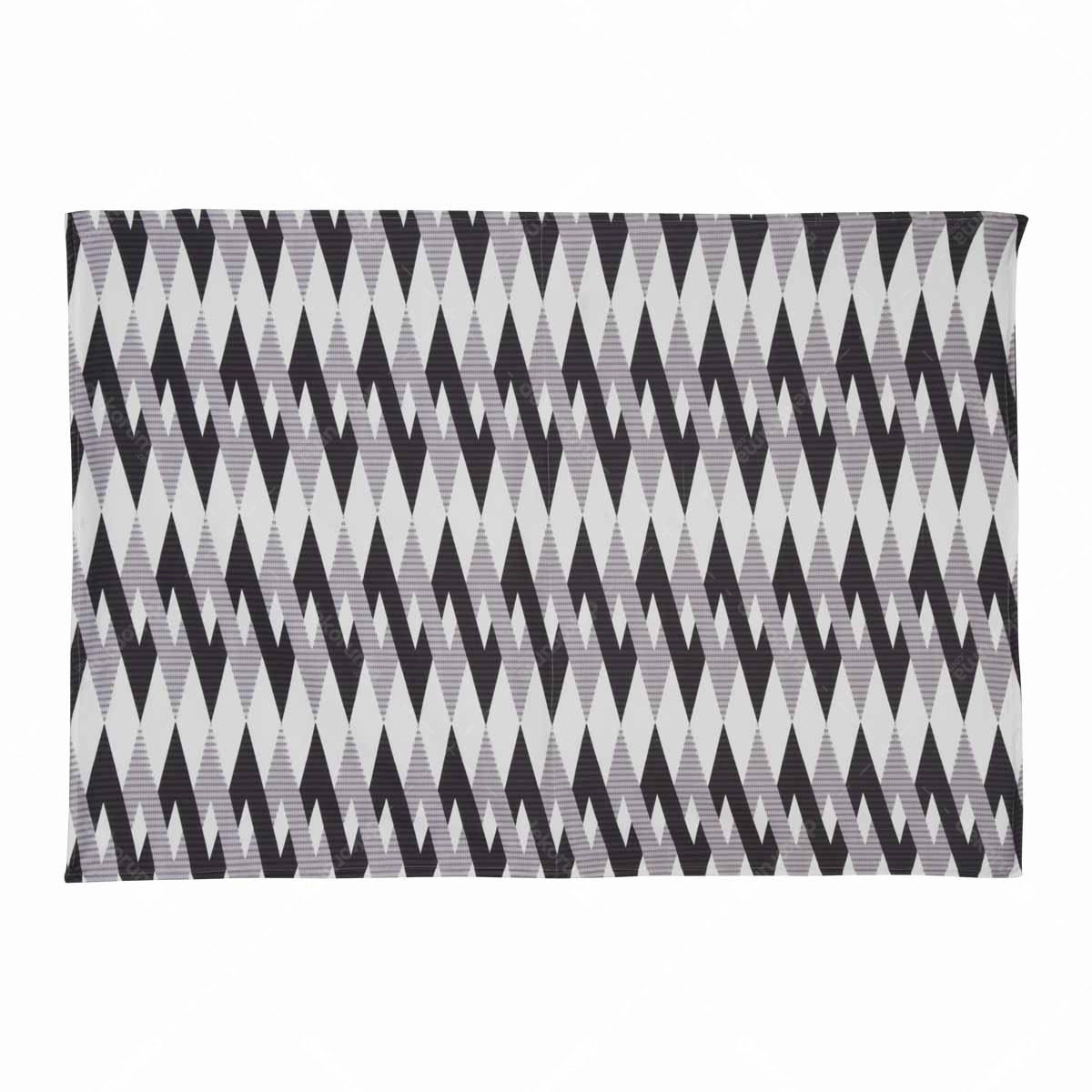 Chic For Home Chevron ikat black Canvas Rugs