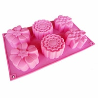 Cetakan Jelly Flower Mix 6 cavity