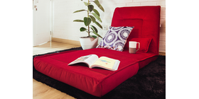 Atease By Inoac Floor Chair Red