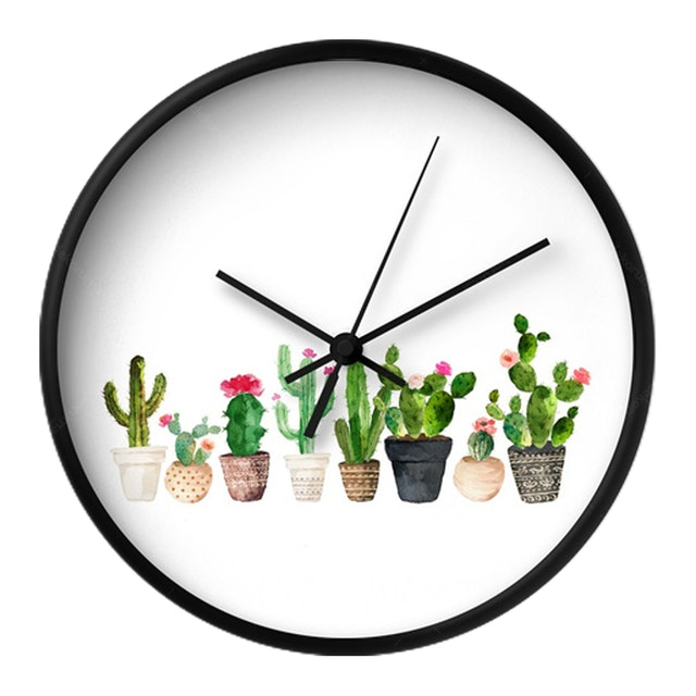 Clouds Clou Wall Clock Cactus 2 31x31cm