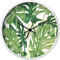 Clouds Clou Wall Clock Green Leaf 4 31x31cm