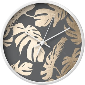 Clouds Clou Wall Clock Gray Silver Leaf 31x31cm