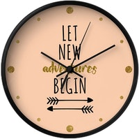 Clouds Clou Wall Clock Let New Adventures Begin 31x31cm