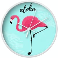Clouds Clou Wall Clock Flamingo 3 31x31cm