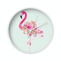 Clouds Clou Wall Clock Flamingo 7 31x31cm