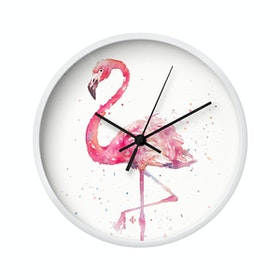 Clouds Clou Wall Clock Flamingo 2 20x20cm