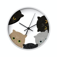 Clouds Clou Wall Clock Baby Cats 31x31cm