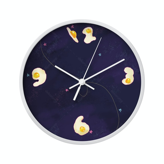 Clouds Clou Wall Clock Egg Number 1 20x20cm