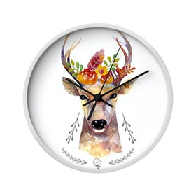 Clouds Clou Wall Clock Floral Deer 31x31cm