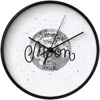 Clouds Clou Wall Clock ILY To The Moon n Back 31x31cm