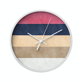Clouds Clou Wall Clock Stripe 6 20x20cm