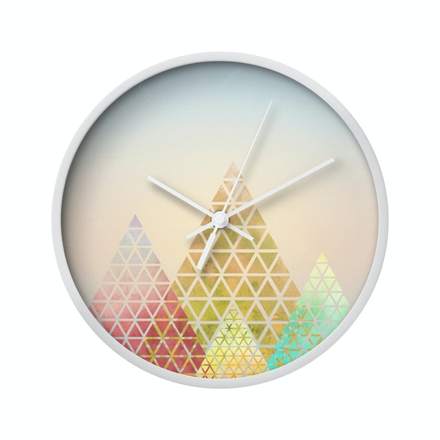 Clouds Clou Wall Clock Triangle 1 31x31cm