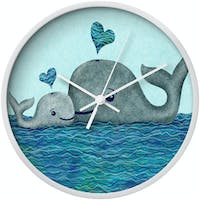 Clouds Clou Wall Clock Whales Couple 31x31cm