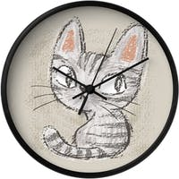 Clouds Clou Wall Clock Baby Cats 1 31x31cm