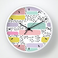 Clouds Clou Wall Clock Abstract Colorfull 31x31cm
