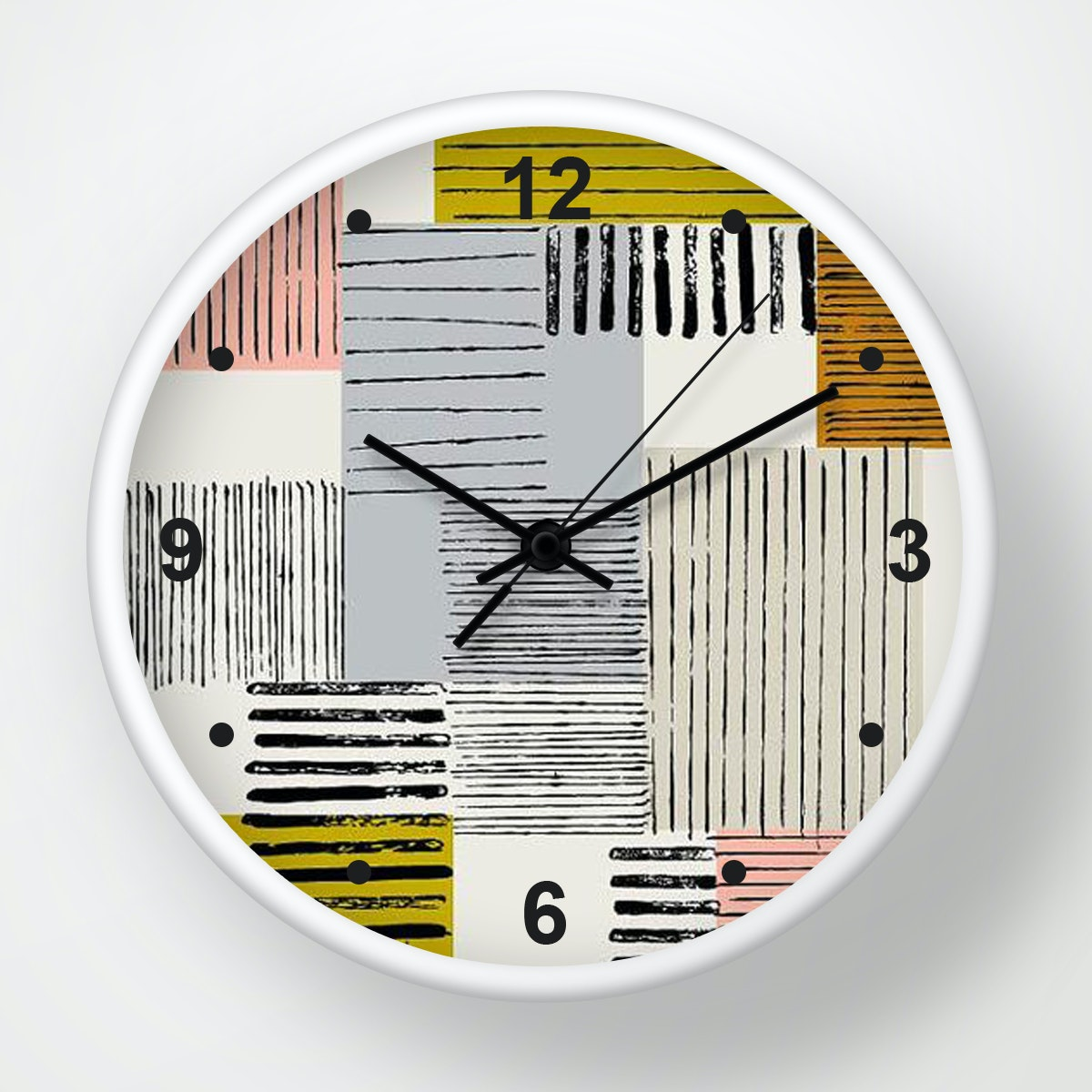 Clouds Clou Wall Clock Abstract Colorfull 2 31x31cm