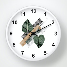 Clouds Clou Wall Clock Monstera 31x31cm