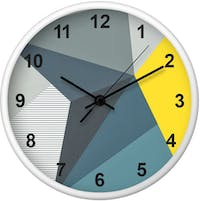 Clouds Clou Wall Clock Abstract 2 31x31cm