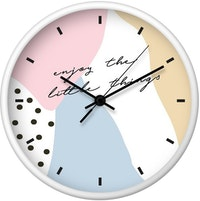 Clouds Clou Wall Clock Enjoy The Little Things 31x31cm