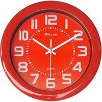 OnTime Jam Dinding Fresh Colour Red 767-17 Red