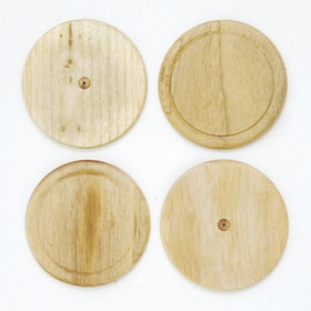 COCOBOLO Double ring wood coasters mindi wood