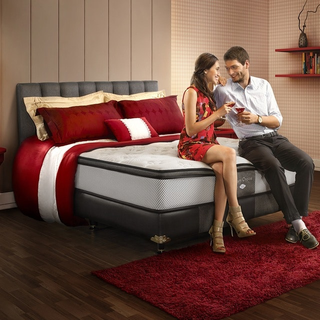 Comforta Kasur 200cm Comforta Luxury Choice Mattress + Sandaran Olivia