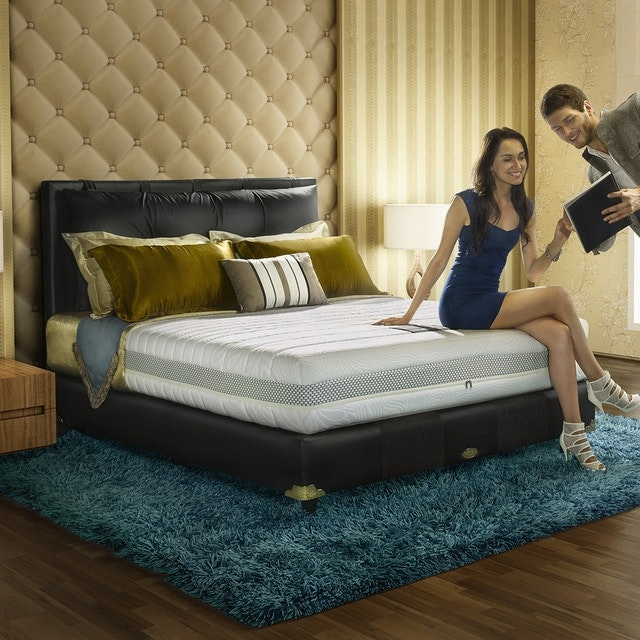 Comforta Kasur 200cm Comforta Luxury Pedic Mattress + Divan Luxury