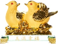 Capodimonte Golden Birds Figurine