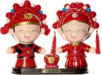 Capodimonte Happy China Boy & Girl Couple Figurine Love
