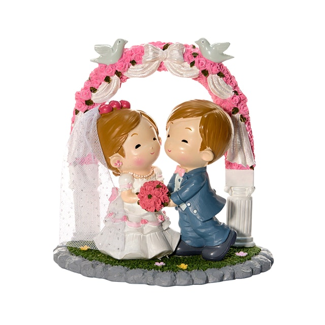 Capodimonte Girl & Boy Couple Figurine Wedding