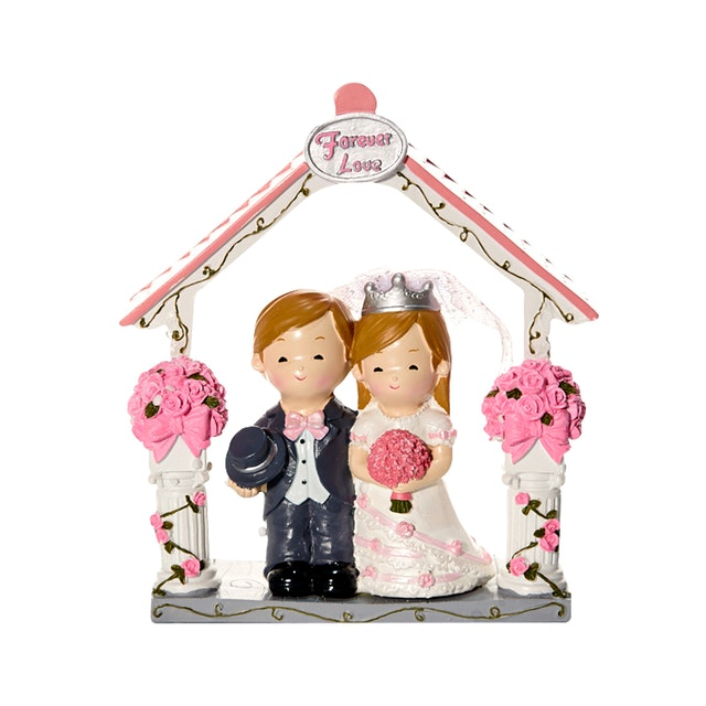 Capodimonte Boy & Girl Couple Figurine Wedding