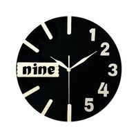 Clock Art Jam Dinding Unik Artistik Nine Black