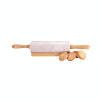 Cooks Habit Marble Mini Rolling Pin Champagne