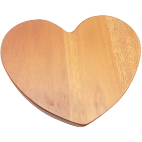 Cooks Habit Wooden Coaster Heart Shape Honey