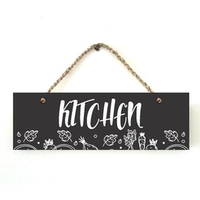 Custom Wallsticker Hanging Wood Pajangan Kayu Kitchen Black