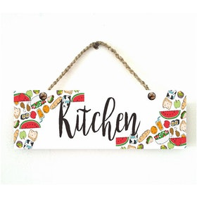 Custom Wallsticker Hanging Wood Pajangan Kayu Kitchen Fruit